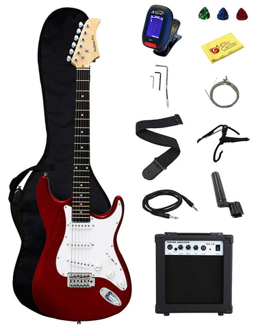Stedman Pro Ymc Electric Guitar With Amp Case & Accessories