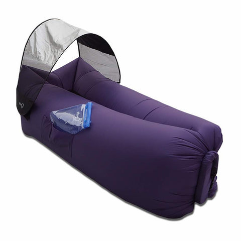 inflatable sofa with iphone pocket and canopy
