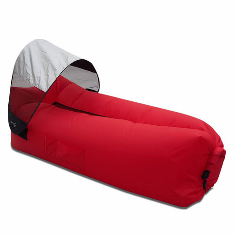 red lazy sofa bag with canopy