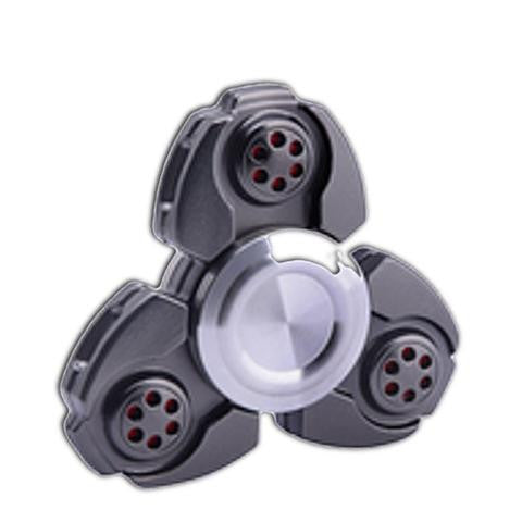 black fidget spinner long spin metallic