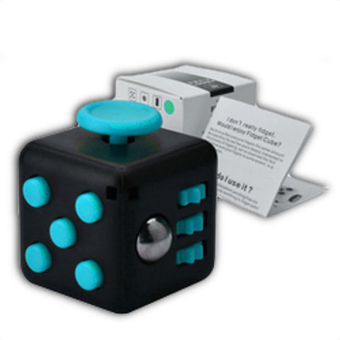 black blue stress relief fidget cube