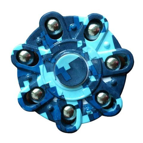 fidget spinner blue design ball weights