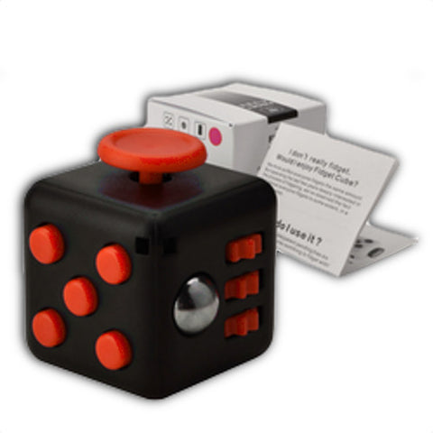 black red fidget cube for stress relief