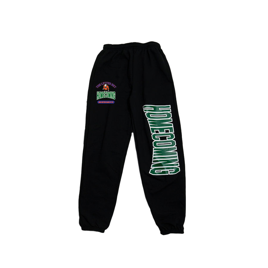 HOMECOMING BLACK SWEATPANTS - The Letter Bet