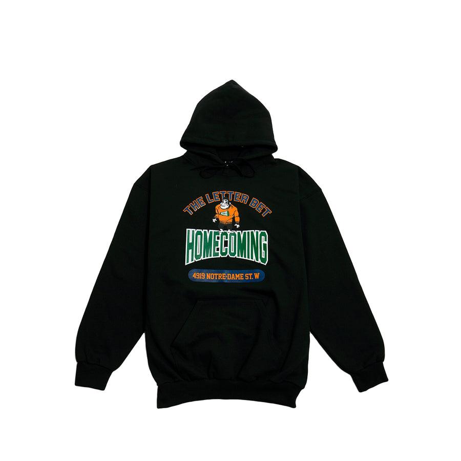 HOMECOMING BLACK HOODIE - The Letter Bet