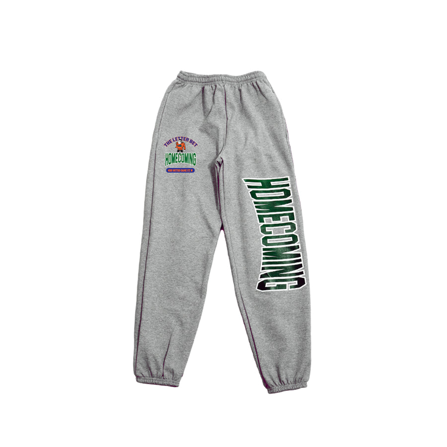 HOMECOMING GRAY SWEATPANTS - The Letter Bet