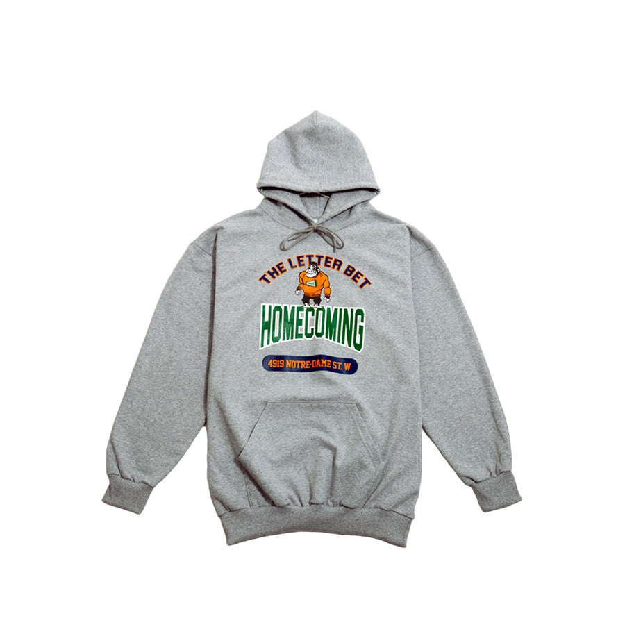 HOMECOMING GRAY HOODIE - The Letter Bet