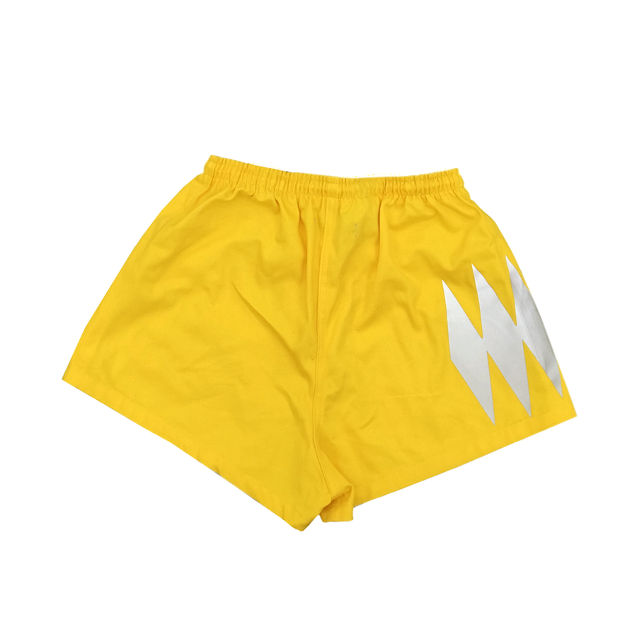 MOONSHINE RUGBY SHORTS (YELLOW) - The Letter Bet