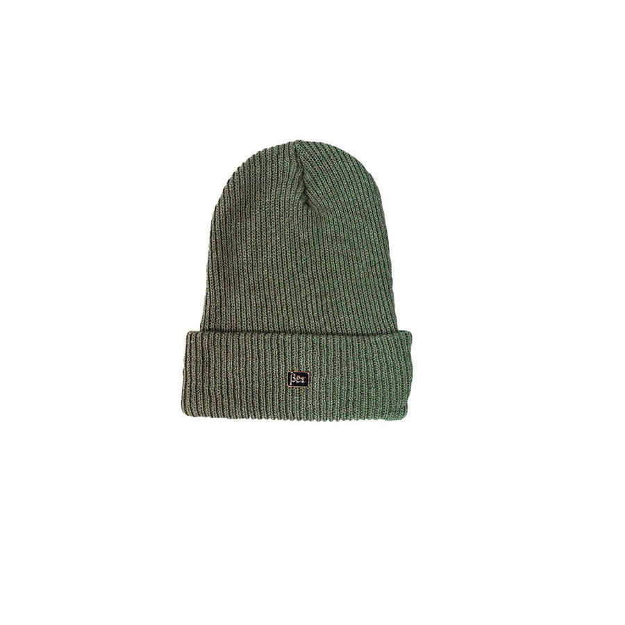 LB Olive Pin Beanie Combo