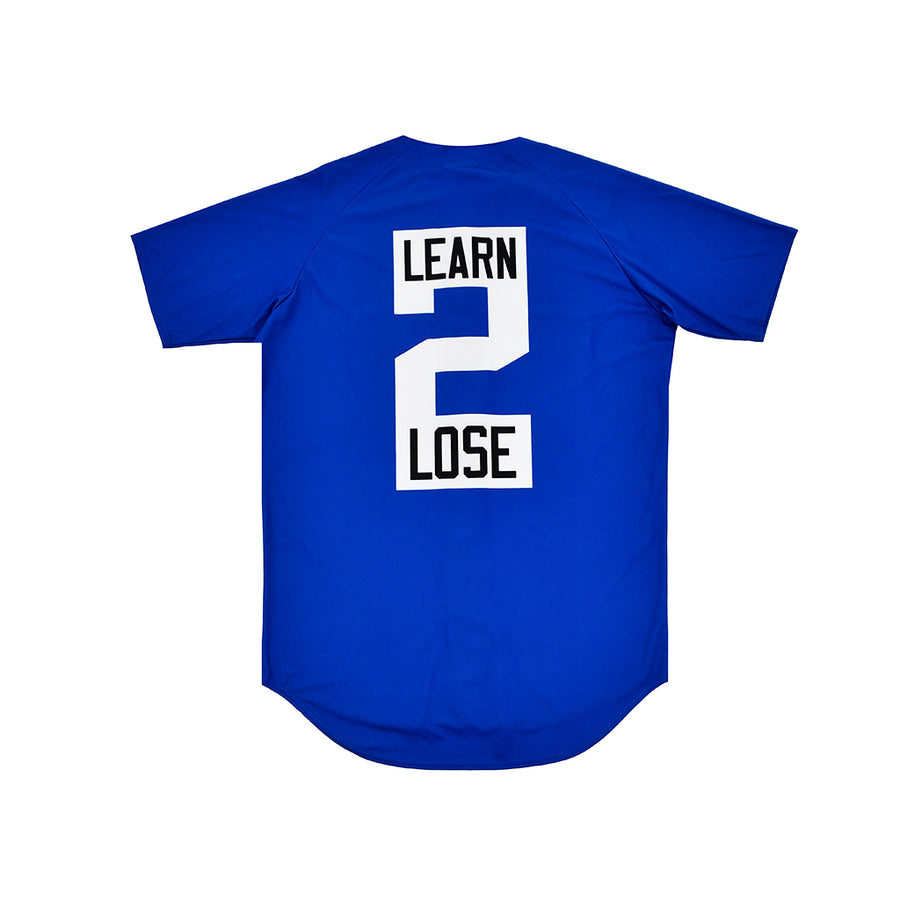 """PLAY 2 WIN / LEARN 2 LOSE"" BASEBALL JERSEY"