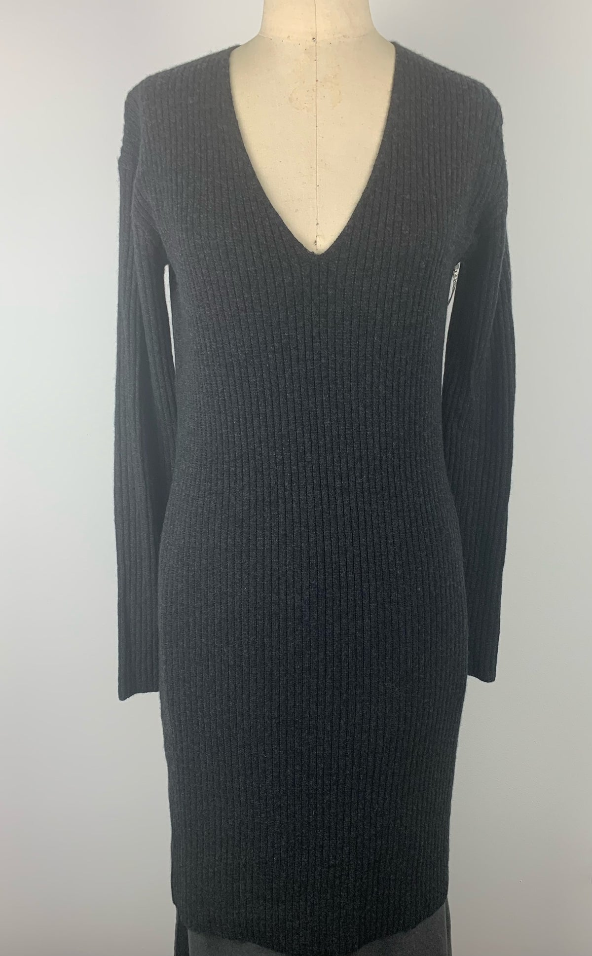 CASHMERE RIBBED DRESS