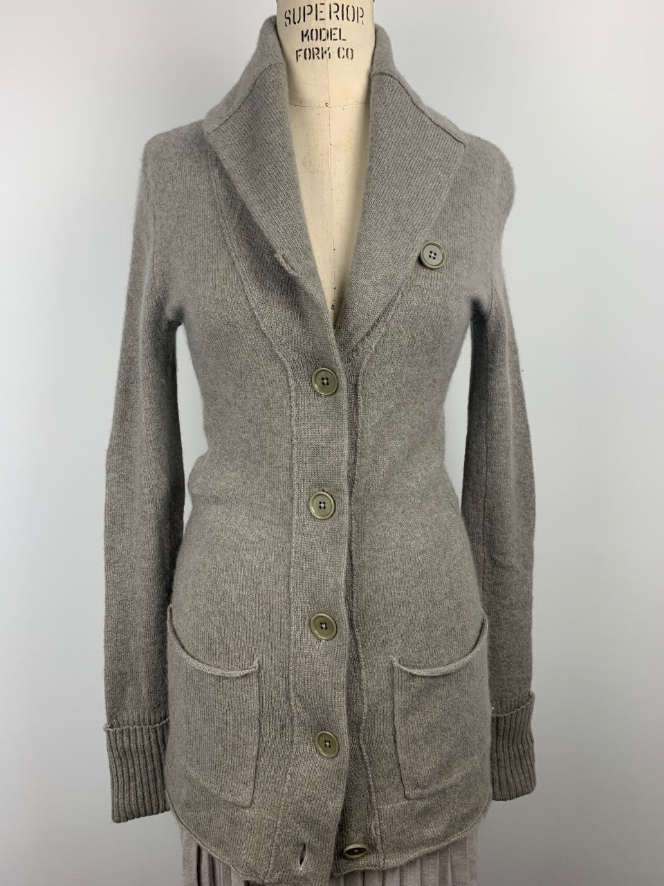 STRETCH CASHMERE COAT