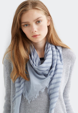 Cotton Stripe Scarf