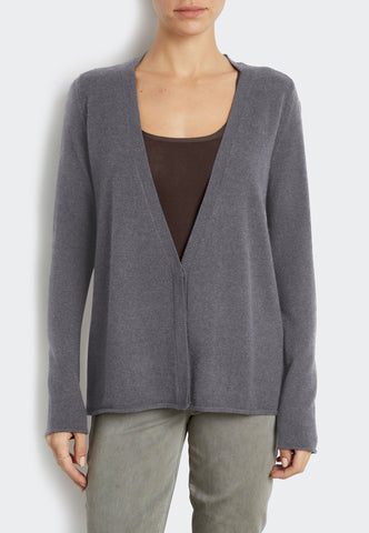 Cashmere Cardigan with Zip Cuffs