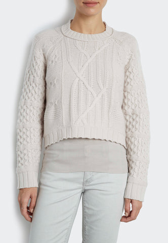 Luxe Cashmere Cable Poor Boy Pull