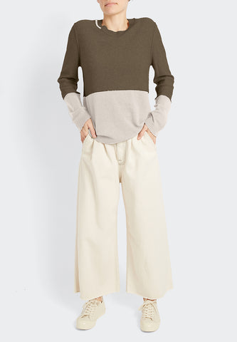 100% Cashmere Color Block Pull