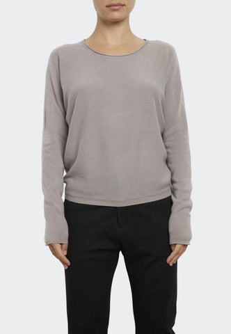 Cashmere Gathered Back Sweatshirt