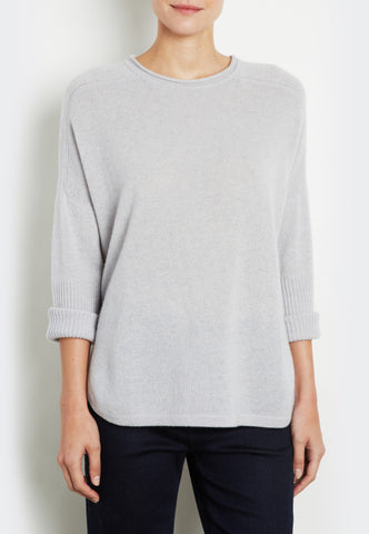 Cropped Sleeve Pullover