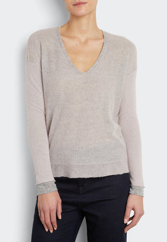 Double Layered V-Neck