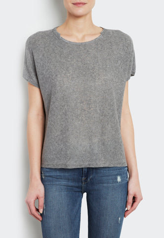 Linen Notch Neck Tee