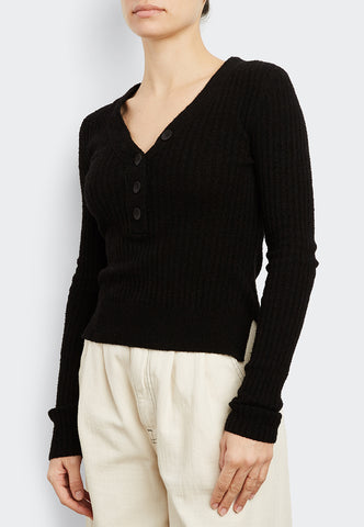 Cotton Ribbed V