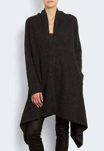 100% cashmere Luxe Drapey Coat