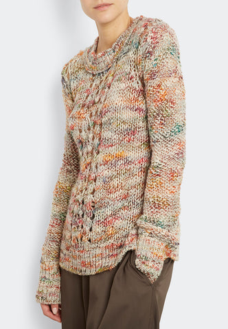 Wool Blend Pointelle Pull