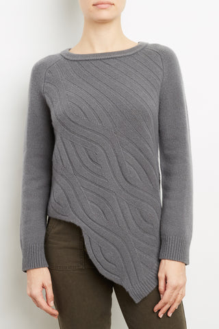 100% Cashmere Abstract Cable