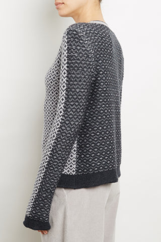 100% Cashmere Luxe Jacquard Pull
