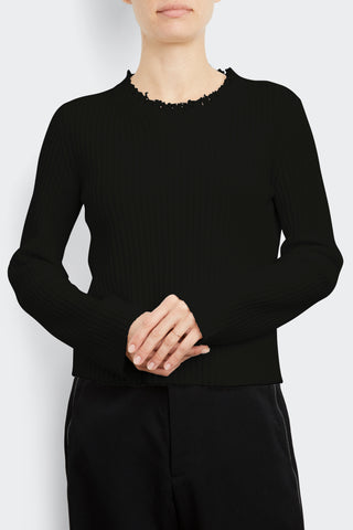 Cashmere Blend Deconstructed Rib
