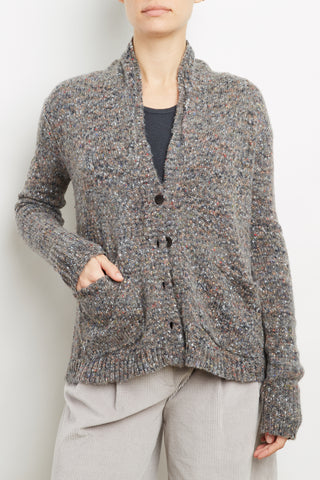 Viscose Wool Blend Tweed Cardigan