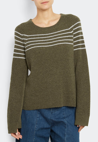 Striped Pull With Bell Sleeve