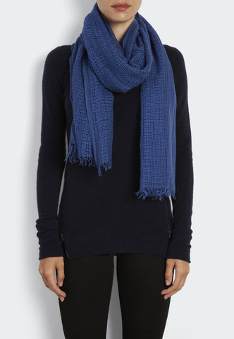 Basket Weave Woven Cashmere Scarf