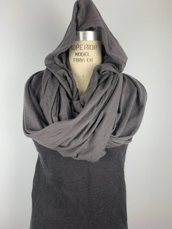 SUPERFINE CASHMERE HOODED WRAP