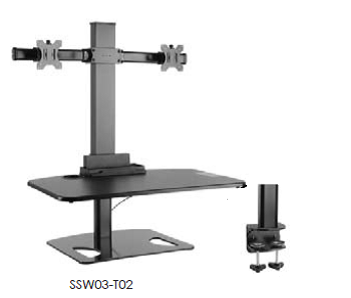 GOYA - Dual Monitor Sit/Stand Workstation