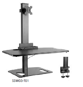 GOYA - Single Monitor Sit/Stand Workstation