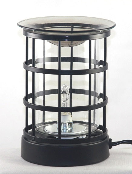 clear  Bird Cage Electric Touch Lantern Aromatic Oil burner, Fragrance Lamp, Wax Melter
