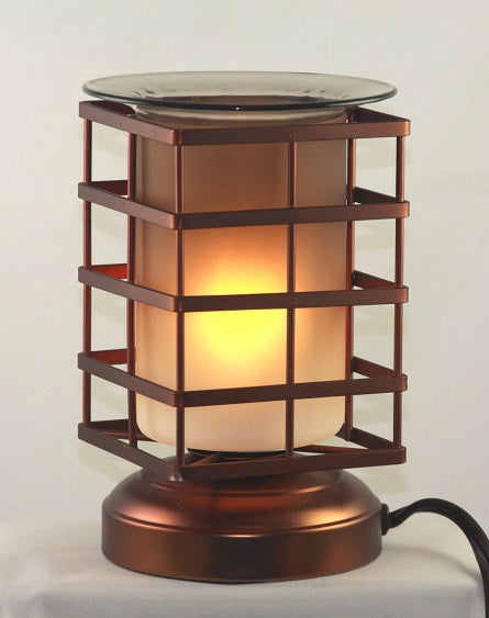 Square Bird Cage Electric Touch Lantern Aromatic Oil burner, Fragrance Lamp, Wax Melter