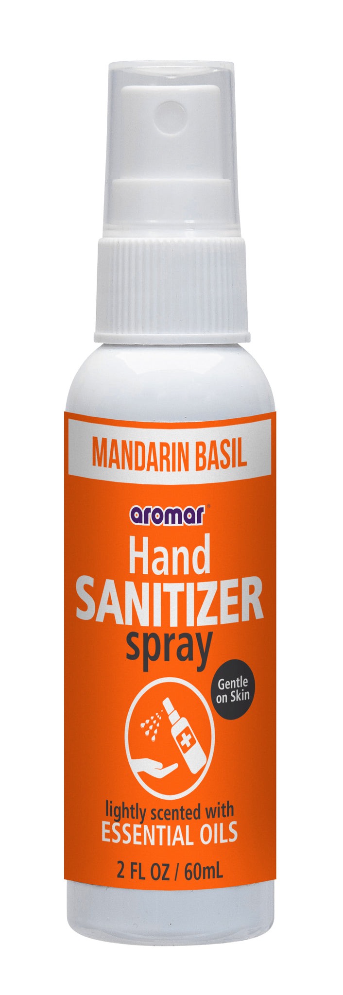 Aromar Mandarin Basil Hand Sanitizer Sprays 2 oz Bottle