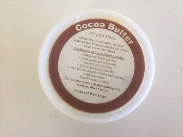 100% natural cocoa  Butter  from West Africa 8 oz