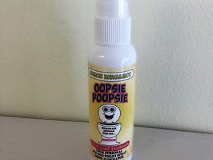 Lemon Bergamot Scent Oopsie Poopsie Concentrated Toilet bowl freshener 2 oz bottle