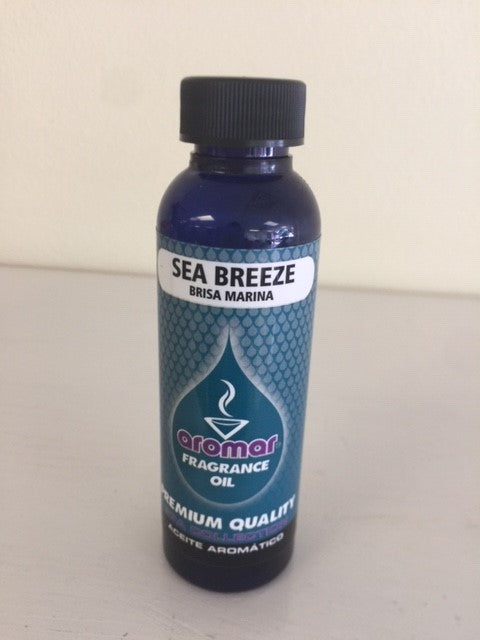 Aromar Aromatherapy Essential Aromatic Burning Oil Sea Breeze  Spa Collection 2.2 oz bottle