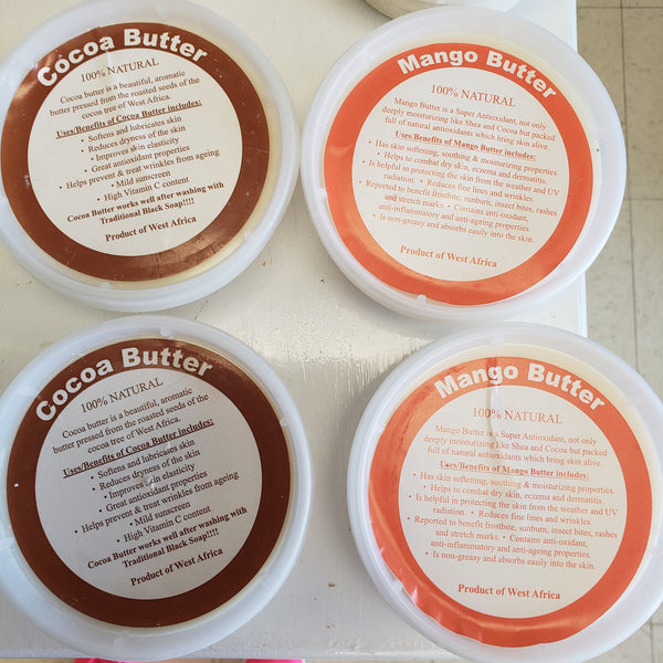 100% natural Mango Butter  from West Africa 8 oz