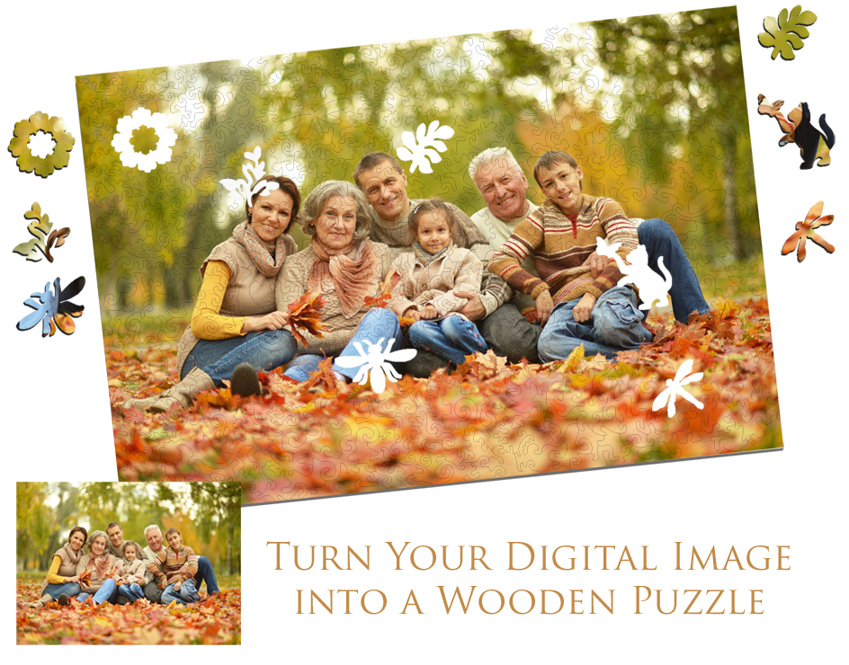 custom wooden jigsaw puzzle