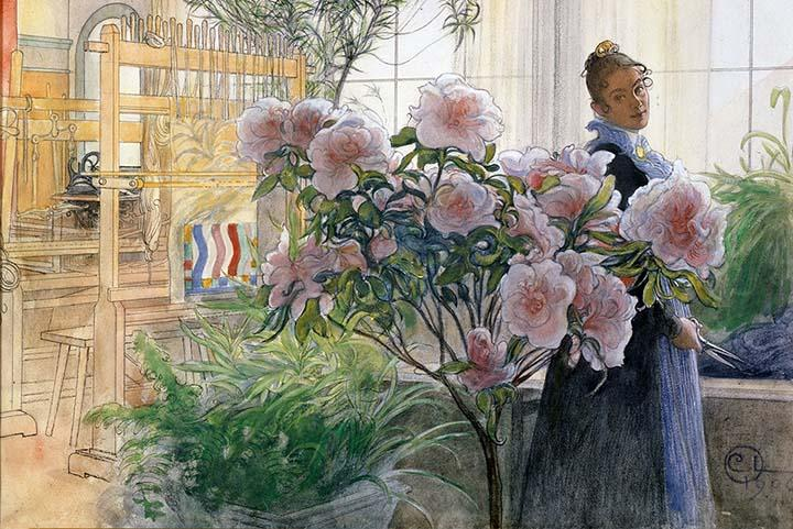 Azalea by Carl Larsson - Wooden Jigsaw Puzzles for Adults