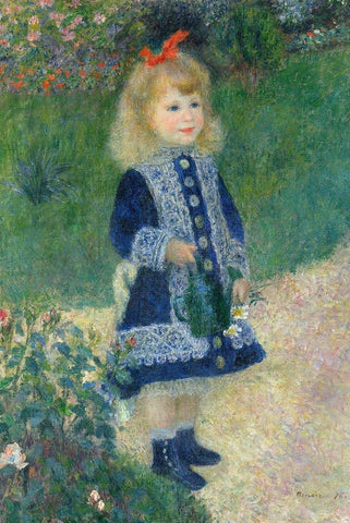 A Girl with the Watering Can by Renoir - Wooden Jigsaw Puzzles for Adults