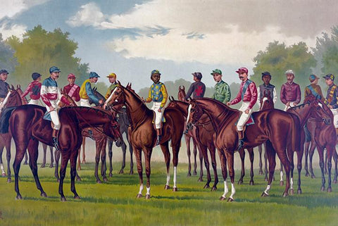 Winning Race Horses and Jockeys of America 1888 - Wooden Jigsaw Puzzles for Adults