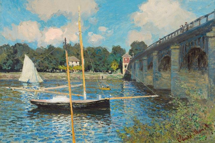 The Bridge at Argenteuil by Monet - Wooden Jigsaw Puzzles for Adults