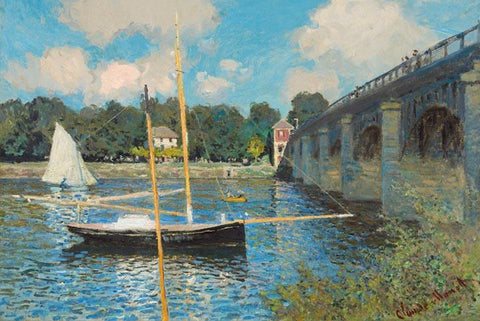 The Bridge at Argenteuil by Monet - Peaceful Wooden Puzzles