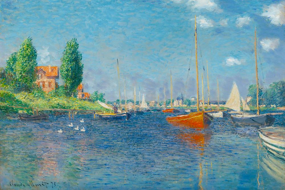 Red Boats by Monet Peaceful Wooden Puzzles